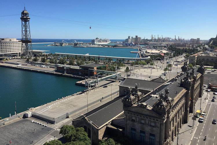 Uitzicht haven van Barcelona