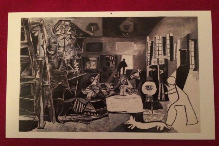 Picasso Museum ansichtkaart Las Meninas