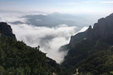 Uitizicht vanaf de berg Montserrat
