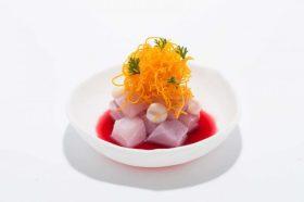 Oranje, wortel, sap, bord