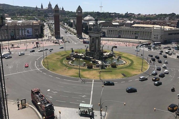 Plaça Espanya verkeersplein Barcelona