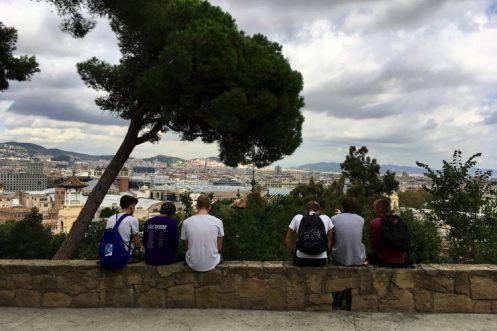 het uitzicht vanaf poble espanyol