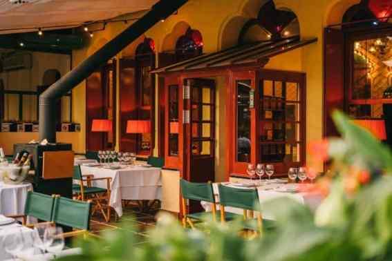 Binnekant restaurant La Venta