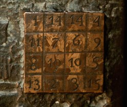Vierkant, getallen, vakjes, oud