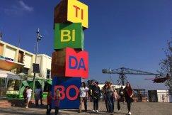 blokken met tibidabo erop