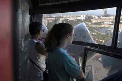 uitzicht over Barcelona vanaf het Columbus monument