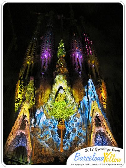 Barcelona 2019  Pictures Sagrada Familia light show  Merc 2012