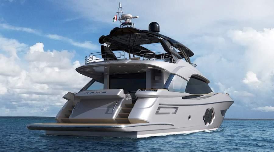 Monte Carlo Yachts 76 da poppa