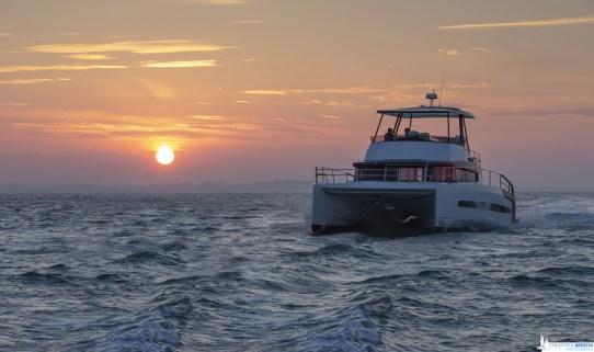 La stabilità di un catamarano è inarrivabile per un monoscafo.