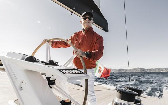 Marc Giorgetti al timone di CeFeA, Solaris 111', photo G. Plisson