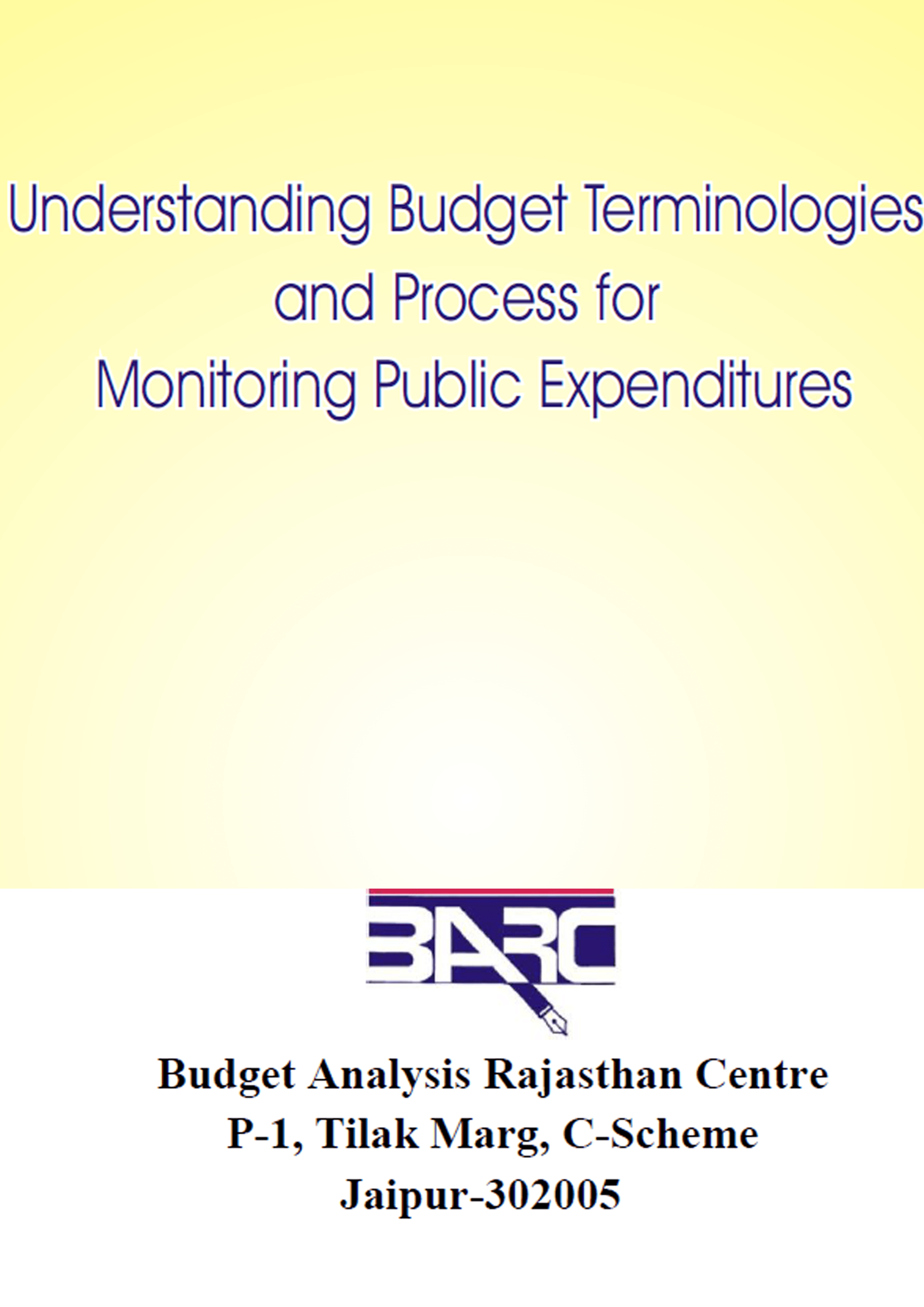 Budget Booklet English 16 Page BARC