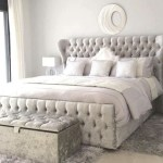 CRUSHED VELVET WINGBACK OXFORD BED