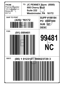 Education  GS1128 Shipping Labels  Bar Code Graphics