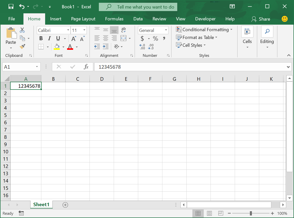 Using The Barcode Font In Microsoft Excel Spreadsheet