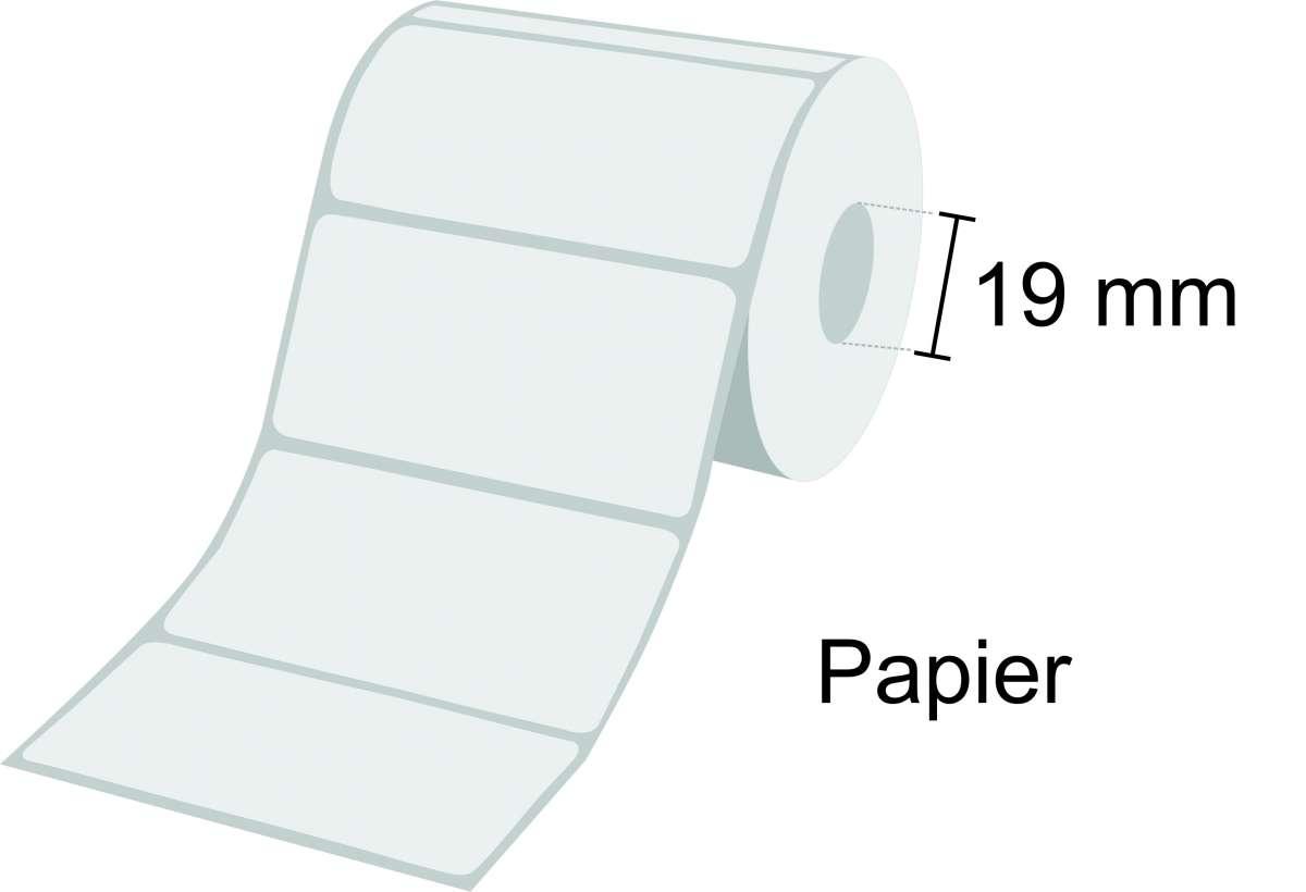 Zebra Etikettenrolle Z-Select 2000T, Papier, 19mm Kern