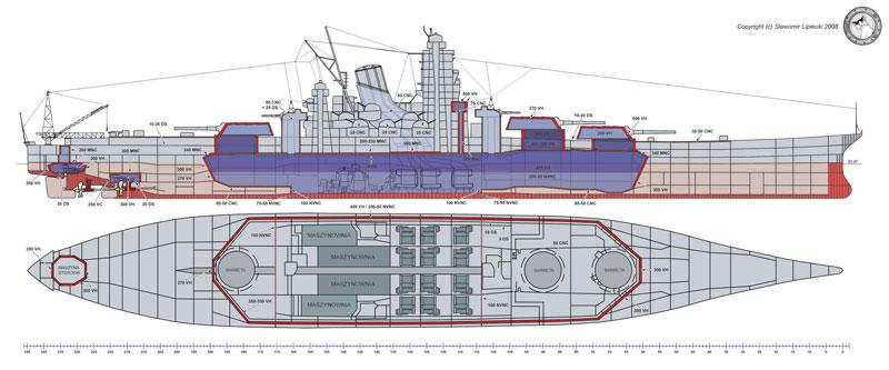 Planos del acorazado Yamato