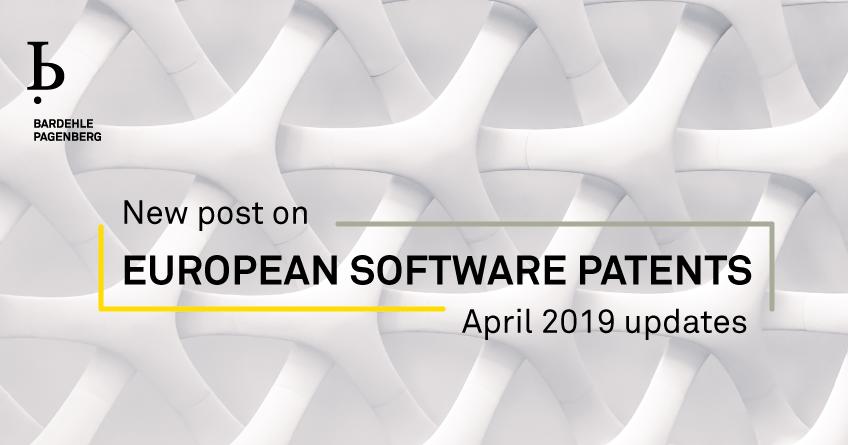 European Software Patents April 2019 Updates