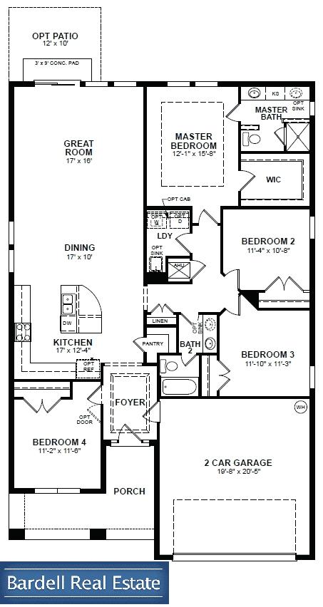 Santa Rosa Floor Plan at The Dales