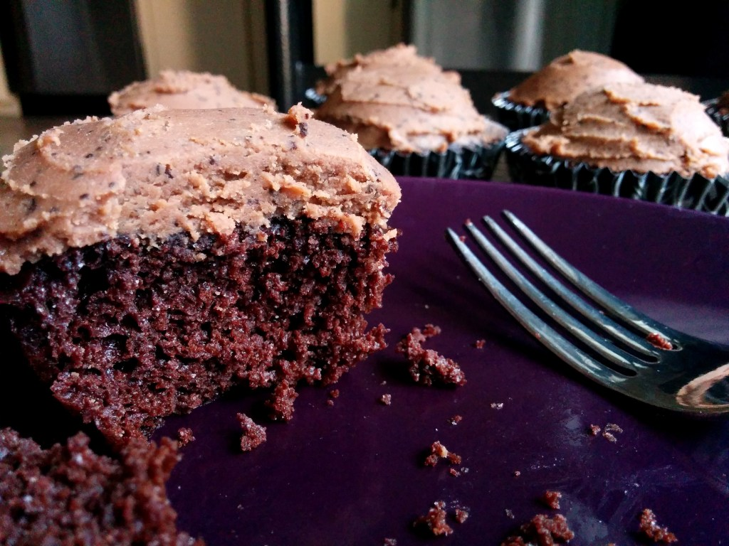 Chocolate Cupcake with Mocha Icing  (gluten-free, dairy-free)