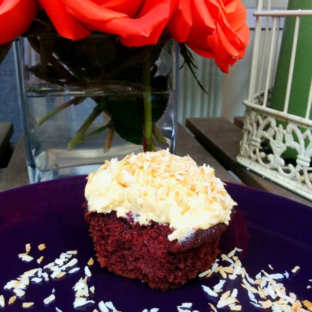Red Velvet with Toasted Coconut (Wheat-free, Dairy-free)