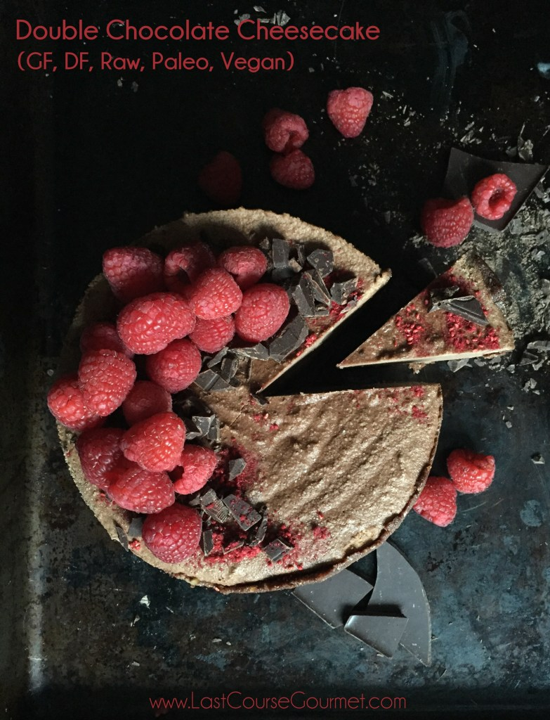 Double Chocolate Cheesecake (GF, DF, Raw, Paleo, Vegan)