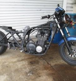 1986 kawasaki kz1000p mad max drag bike build [ 1066 x 800 Pixel ]