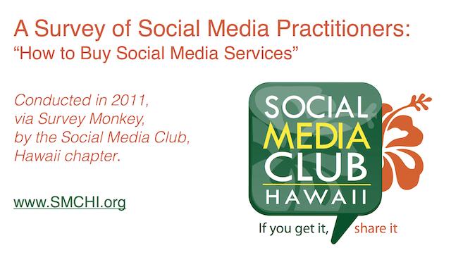 social media survey graphic SMCHI 2011