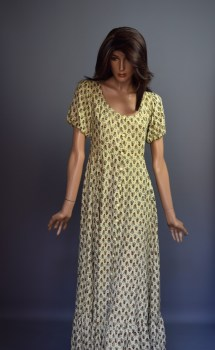 Maxi Dress with Yellow Flowers