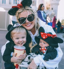 Girls Barefoot at Disney World