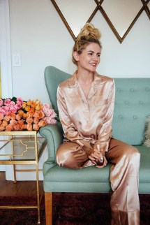 Mornings In Silky Pajamas - Barefoot Blonde Amber