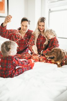 Christmas Pajamas - Barefoot Blonde Amber Fillerup Clark