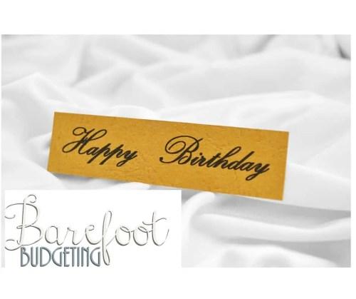 Happy Birthday Barefoot Budgeting