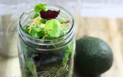 Pulled Pork Mason Jar Salad