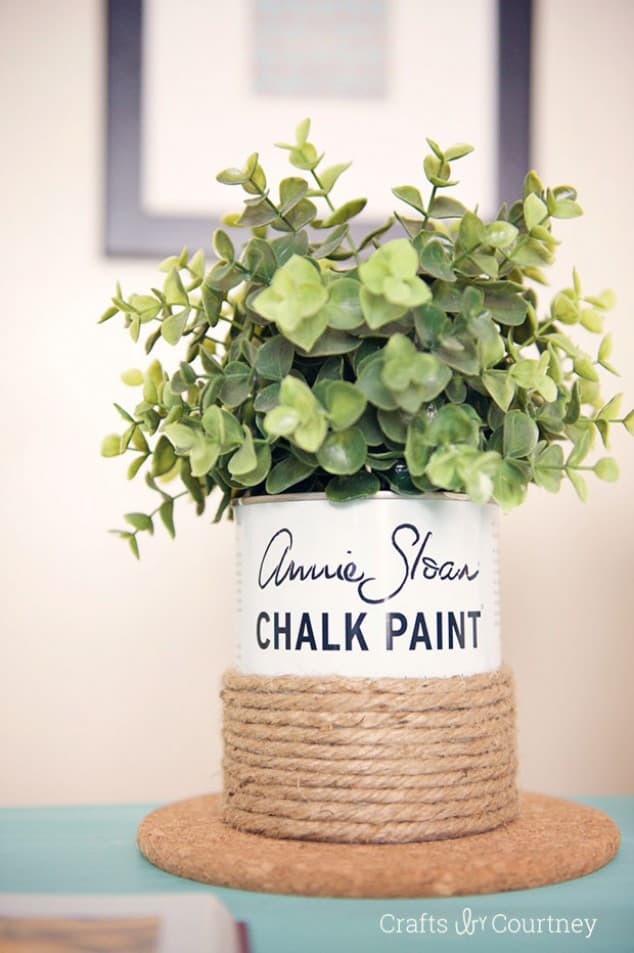 diy paint can upcycle planter
