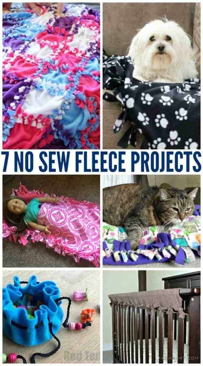 7 No Sew Fleece Projects