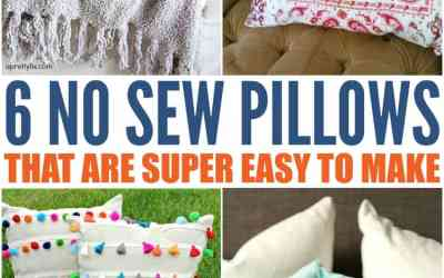 6 DIY No Sew Pillow Covers