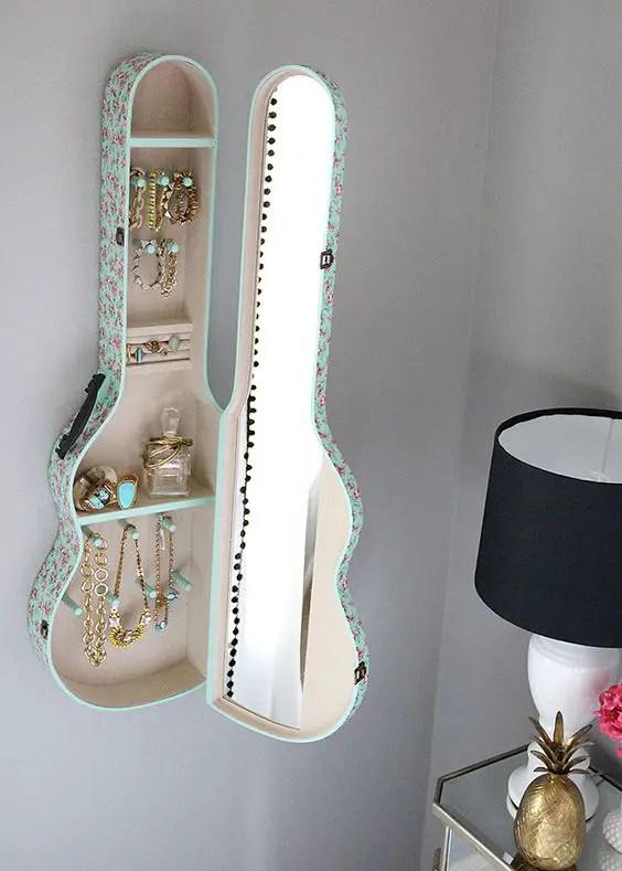 easy diy guitar case shelf