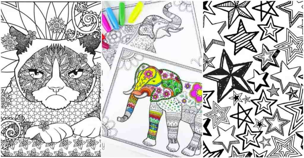 7 Free Adult Coloring Pages And The Healthy Benefits