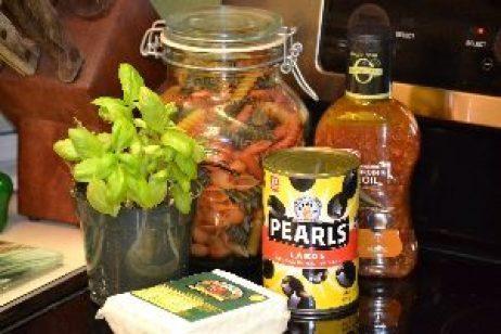 Julie's Pasta Salad ingredients._small