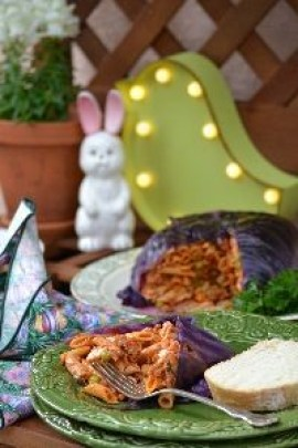 Stuffed purple cabbage timbale_small