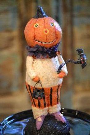 vintage Halloween Jackolantern Pumpkin man_small