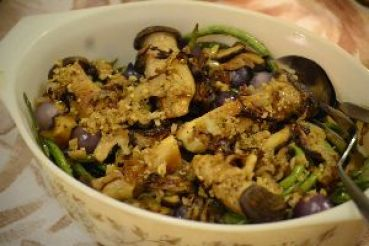 Chinese long bean casserole with mushrooms_small