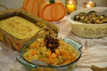 Eastern Shore Cornbread Hawaiian Sweet Potatoes and Tropical Stuffing_small