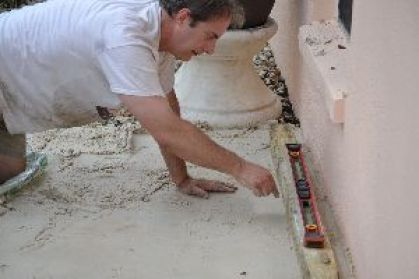 Gordon leveling the area to make sure_small