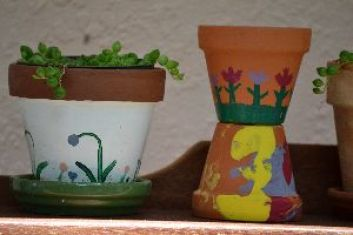 our hand painted pots_small