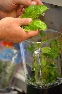 Gordon making herbed pesto_small