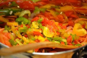 adding the chopped bell peppers 2_small