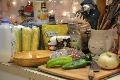 100 Ingredients for making our cornbread wreath_small