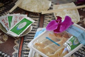 Potstickers and rice_small