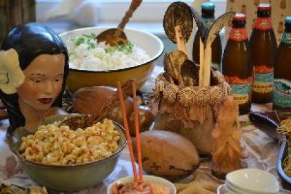 Sticky rice and macaroni salad_small